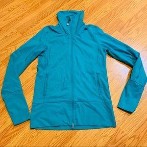 LULULEMON Turquoise Nice Asana Jacket Size 6